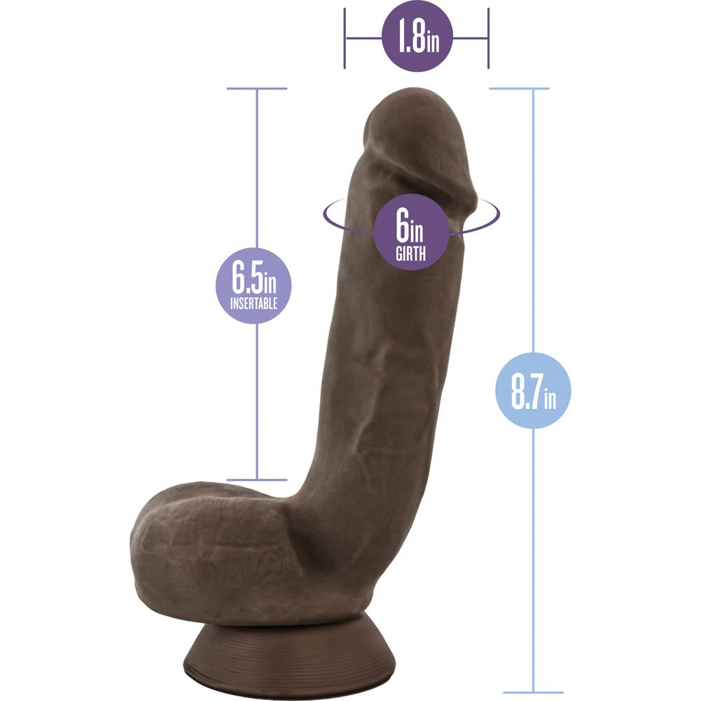 "Blush Au Naturel Jerome Dildo 8.75"" Brown - View #1"