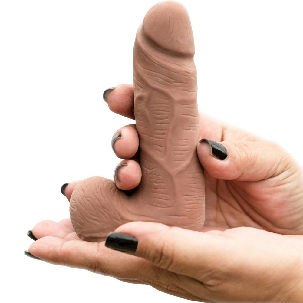 "Blush Au Naturel Carlito Dual Density Dildo 5.5"" Latin - View #1"