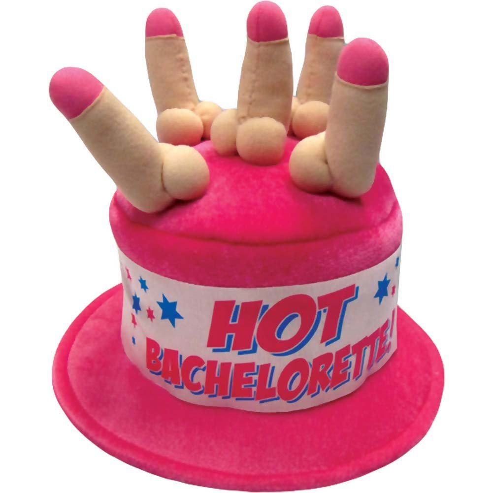 Hot Bachelorette Hat with Candles - View #1