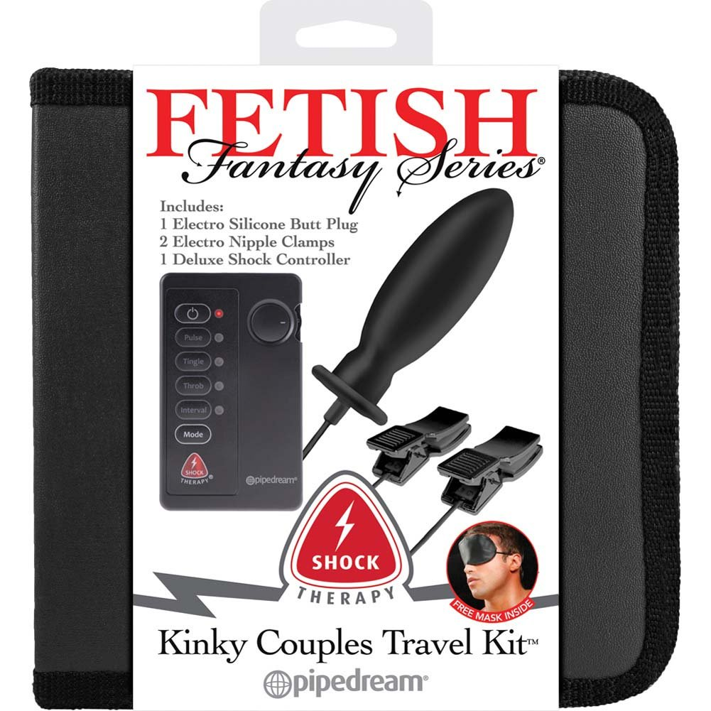 Fetish Fantasy Series Shock Therapy Kinky Couples Travel Kit Black - View #1