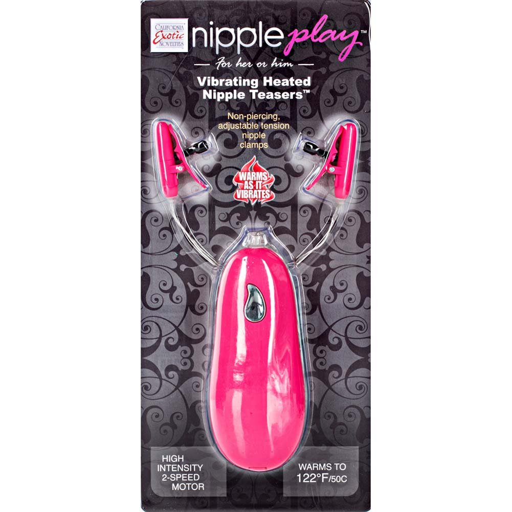California Exotics Nipple Play Vibrating Heated Nipple Teasers Pink - View #1