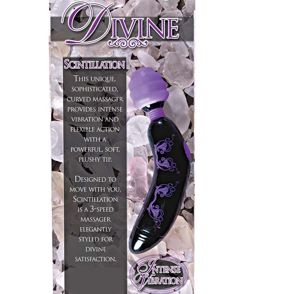 "Divine Scintillation Vibrating Curved Massager 6.25"" Purple - View #3"
