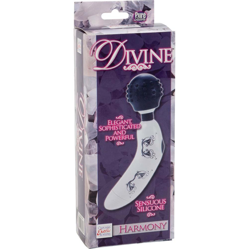 "Divine Harmony Silicone Intimate Massager 6.75"" Black Head - View #4"