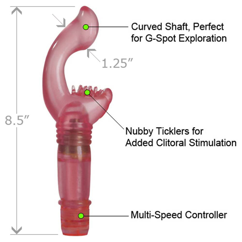 "California Exotics ShaneS World Vibrating G-Spot Arouser 8.5"" Romantic Pink - View #1"