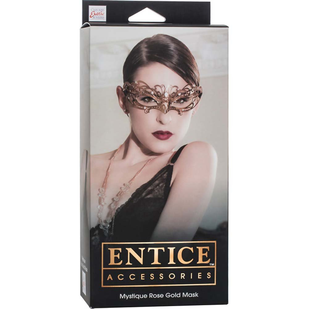 California Exotics Entice Mystique Mask Rose Gold - View #1