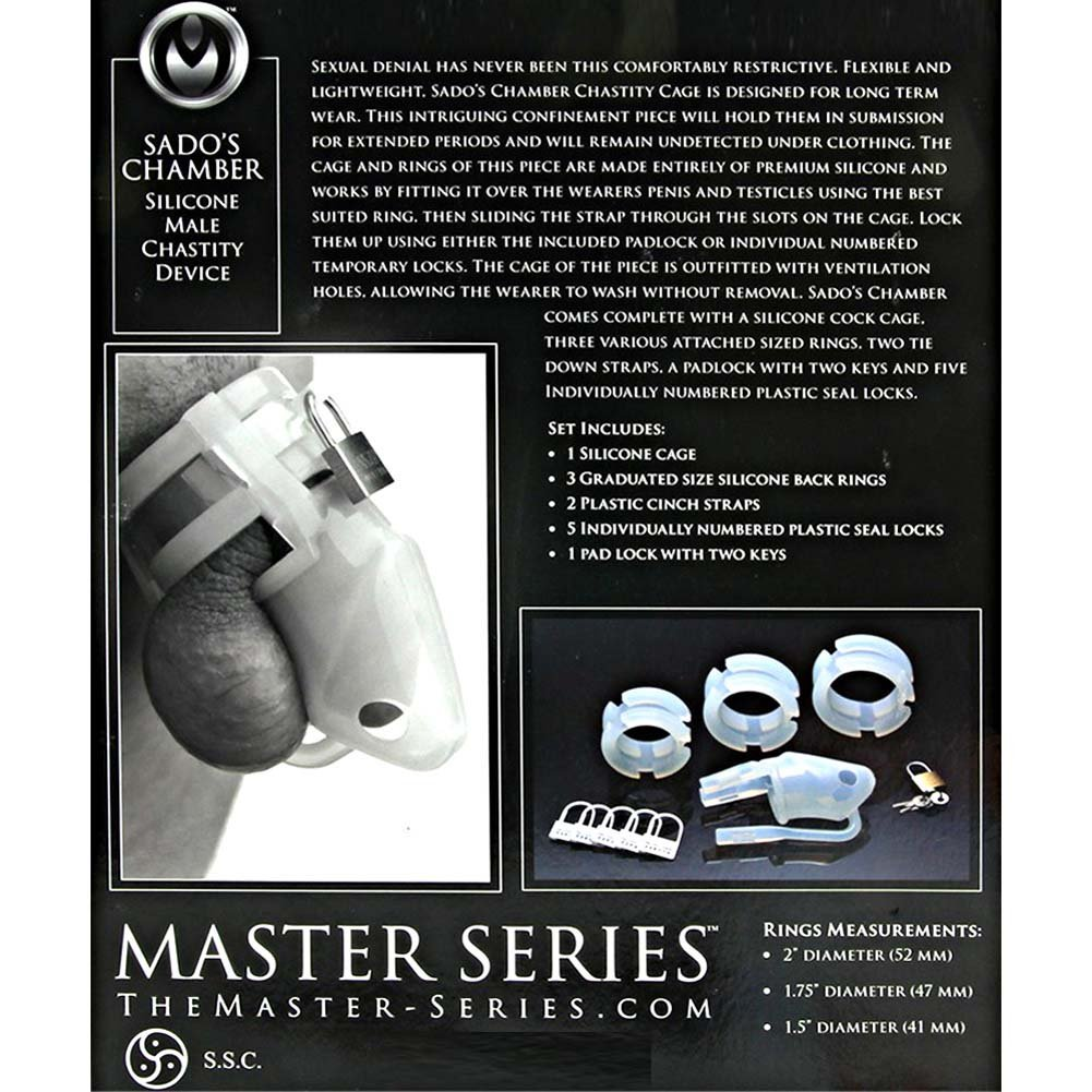 Master Series SadoS Chamber Silicone Male Chastity Device - View #1