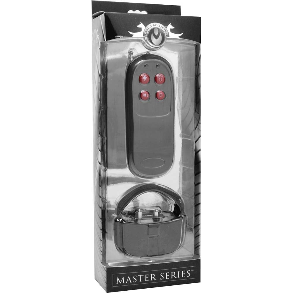 Master Series Cock Shock Remote CBT Electric Cock Ring Black - View #4