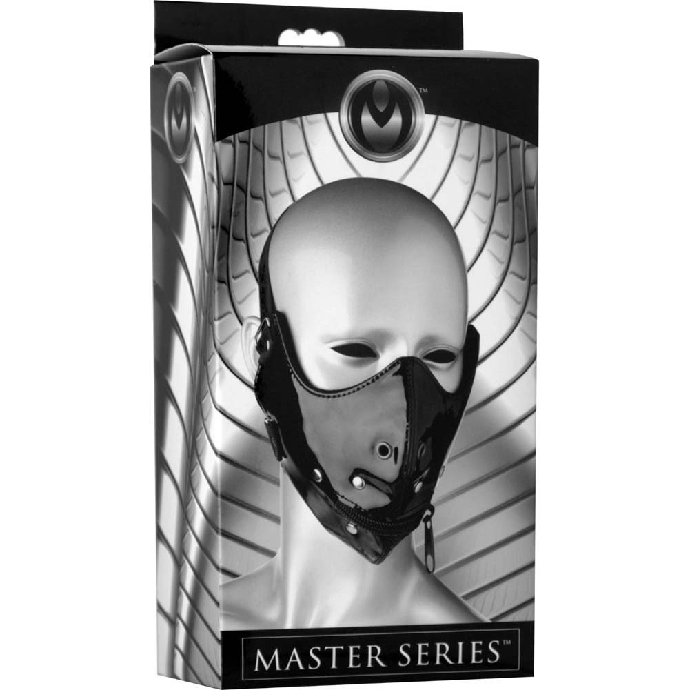 Master Series Lektor Zipper Mouth Muzzle Black - View #1