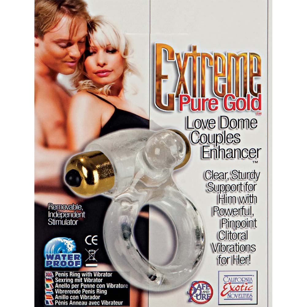 California Exotics Extreme Pure Gold Love Dome Couples Enhancer Clear - View #1