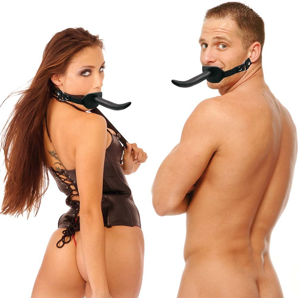 Fetish Fantasy Ball Gag with Dong Black - View #3