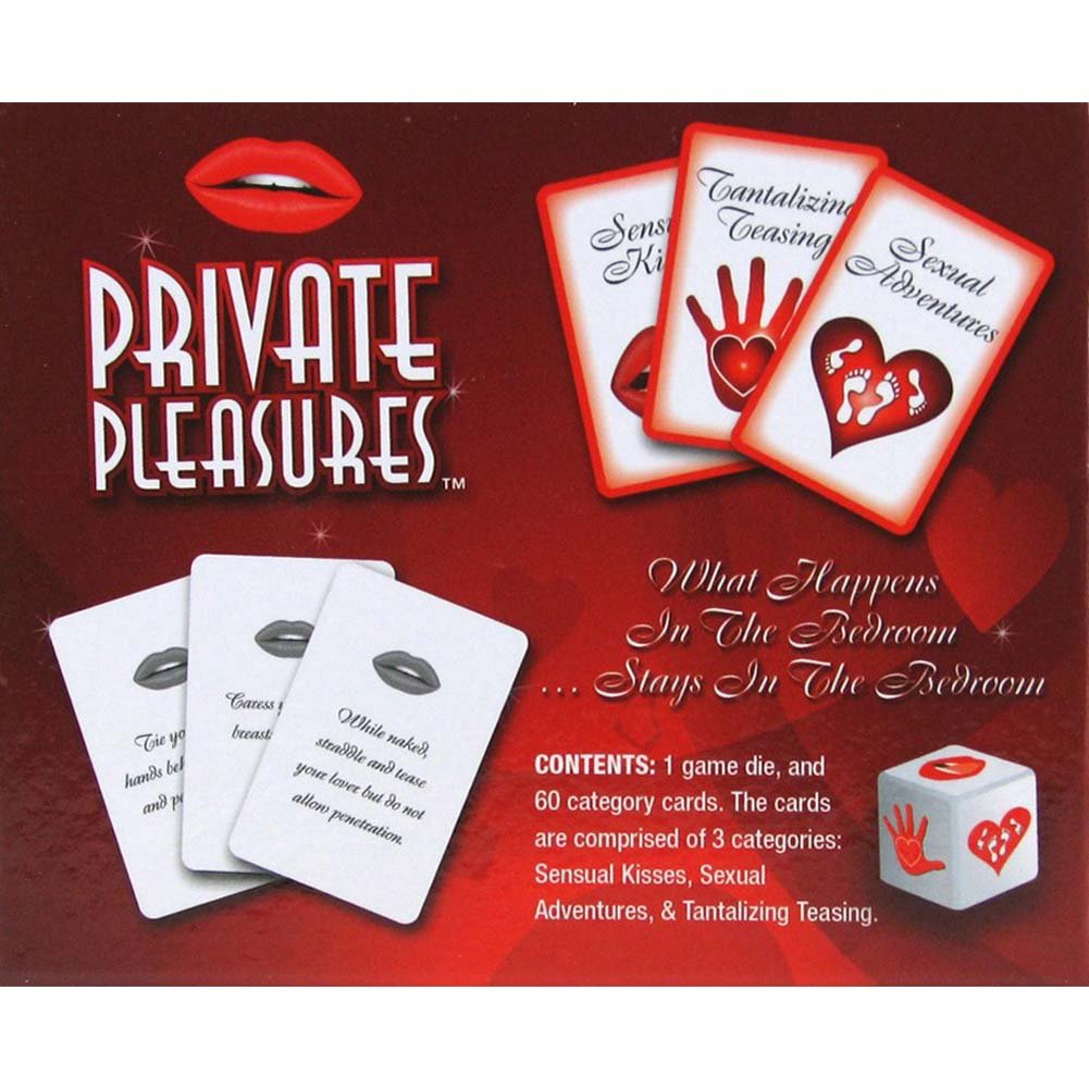 Private Pleasures Card Game - View #1