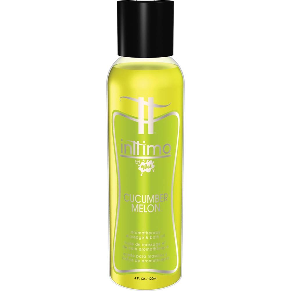 Inttimo by Wet Cucumber Melon Aromatherapy Massage Oil 4 Fl.Oz. - View #1