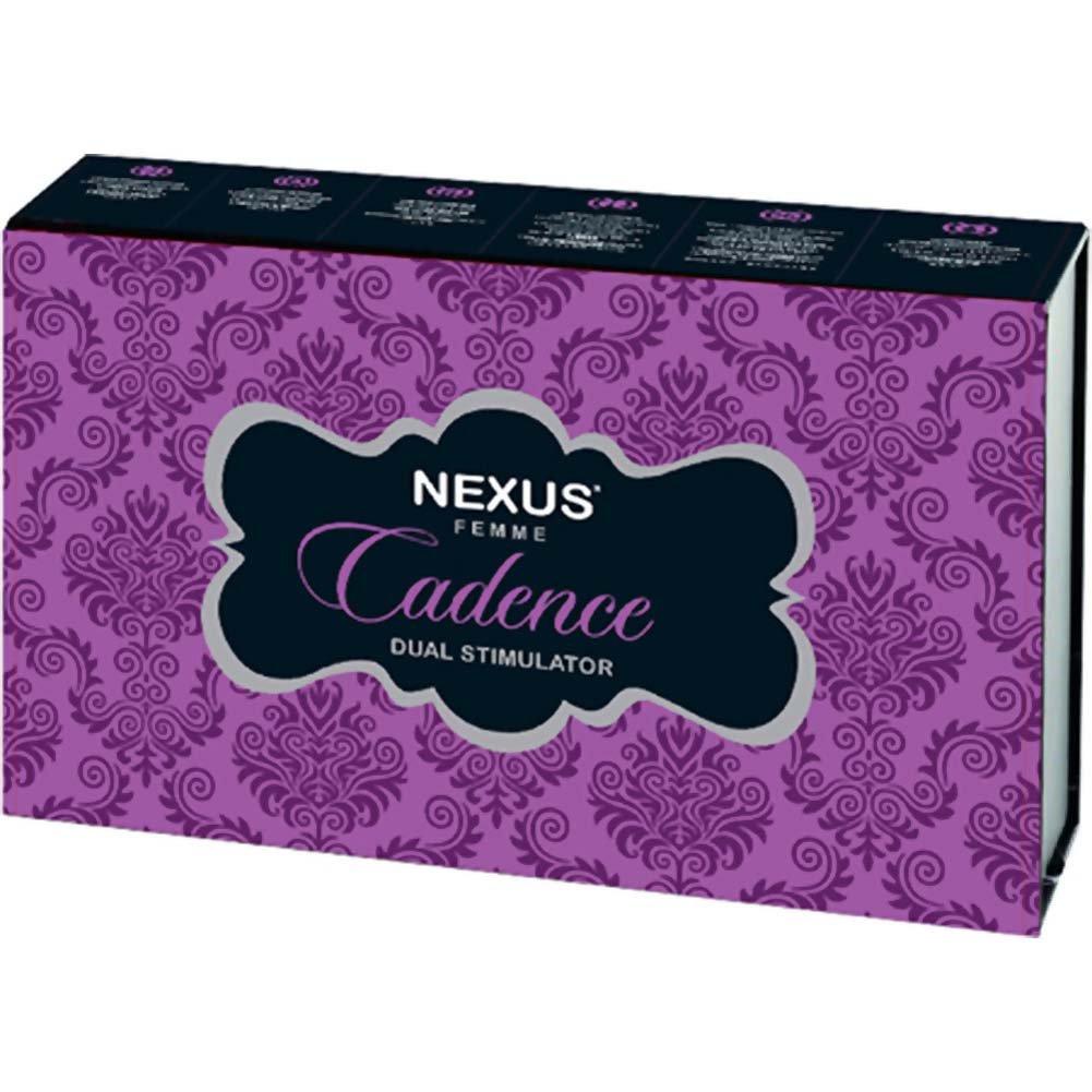 "Nexus Femme Cadence Dual Stimulator USB Rechargeable Vibrator 9.25"" Purple - View #4"