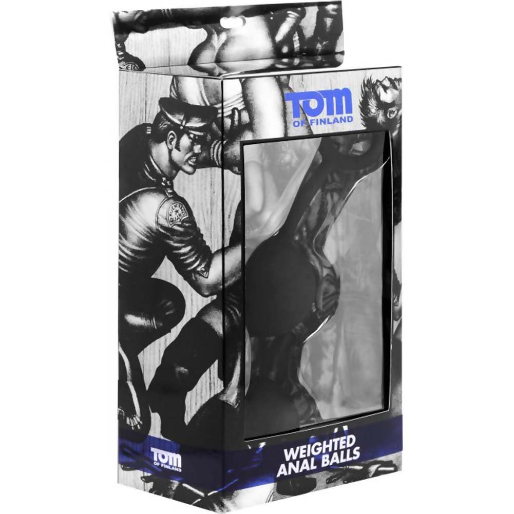 "Tom of Finland Silicone Weighted Anal Balls 9.5"" Black - View #1"