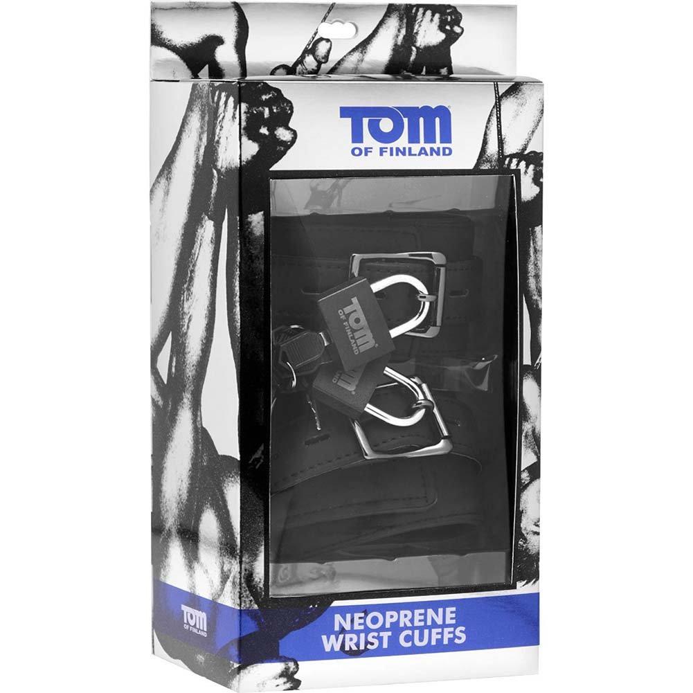 Tom of Finland Neoprene Wrist Cuffs Black - View #1