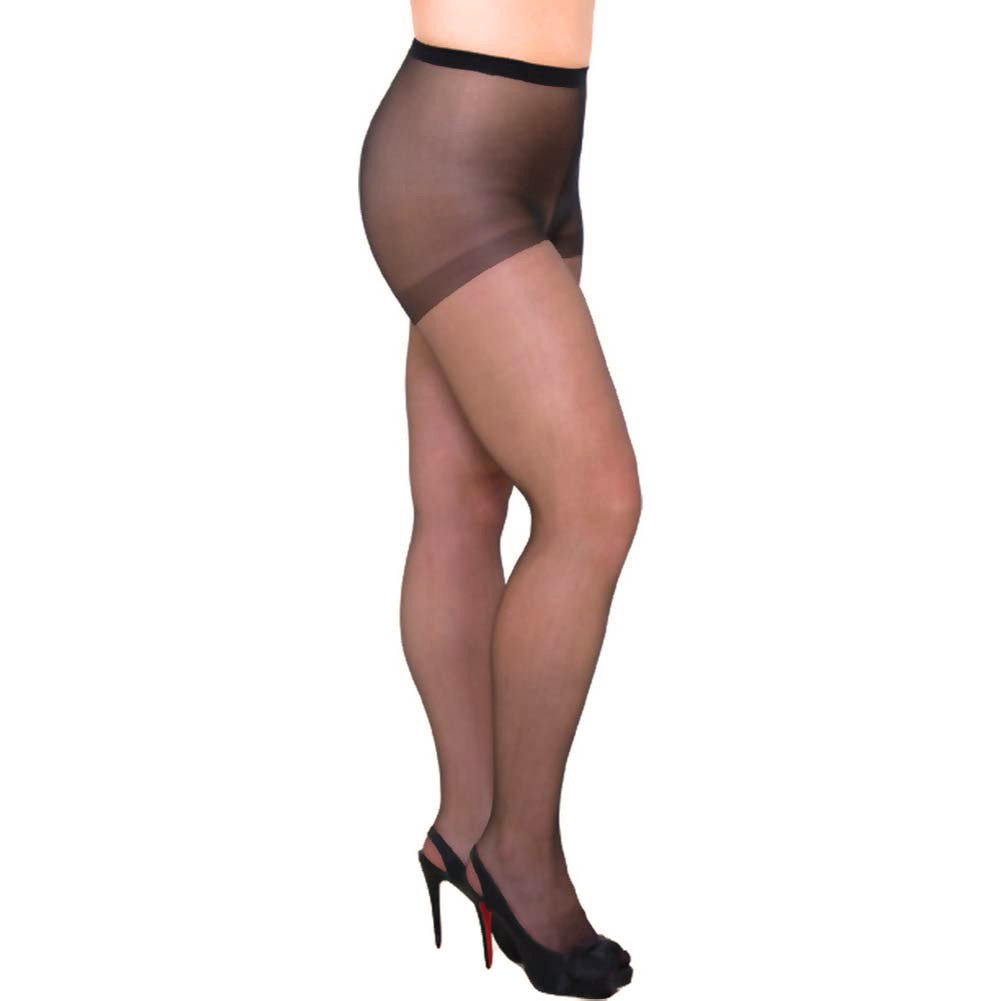 Sheer Pantyhose Sexy Hosiery Queen Size Fetish Black - View #2