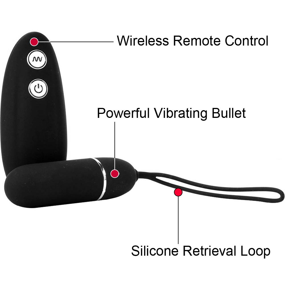 Hustler Wireless Remote Control Vibrating Panties Small/Medium Black - View #1