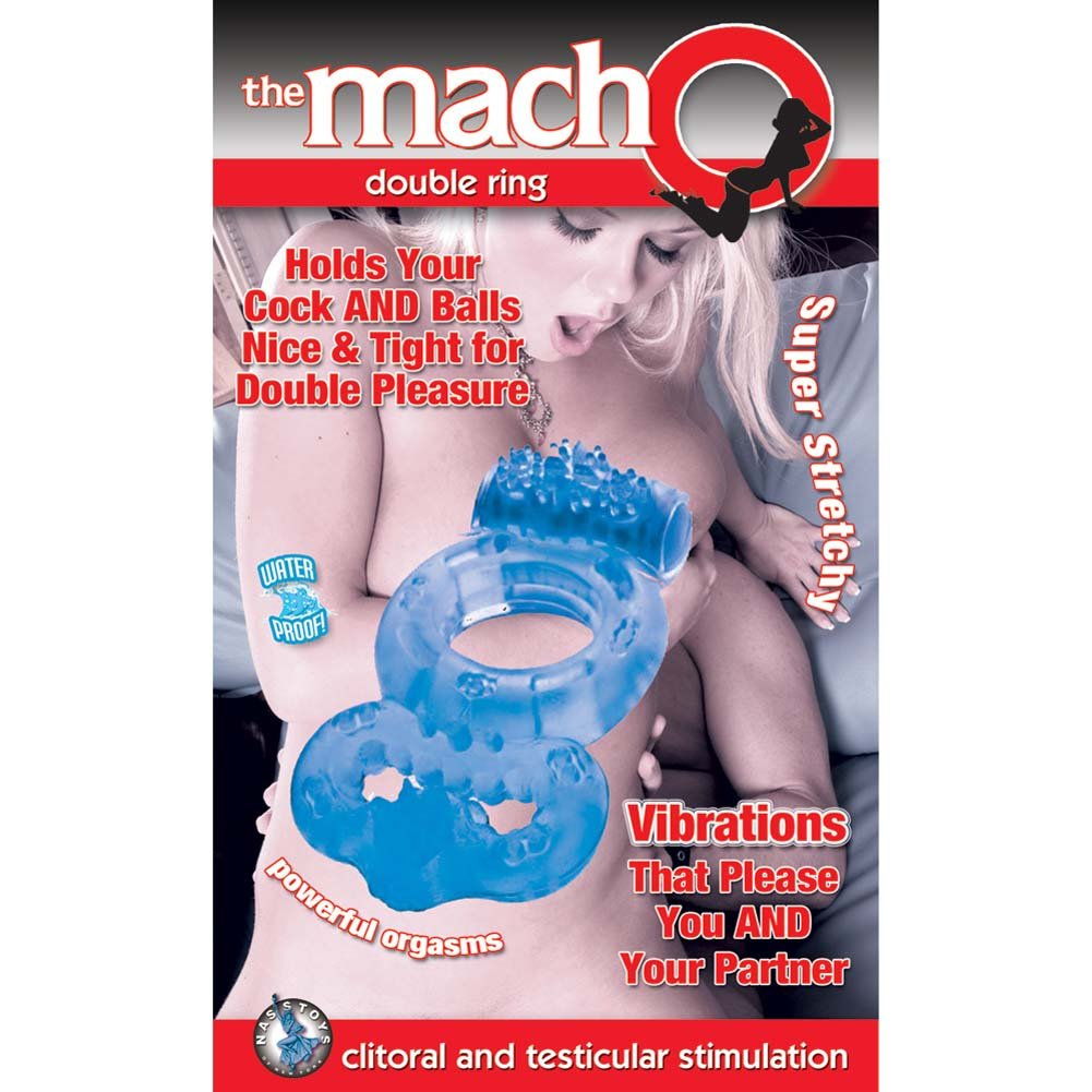 Macho Vibrating Double Ring Blue - View #1