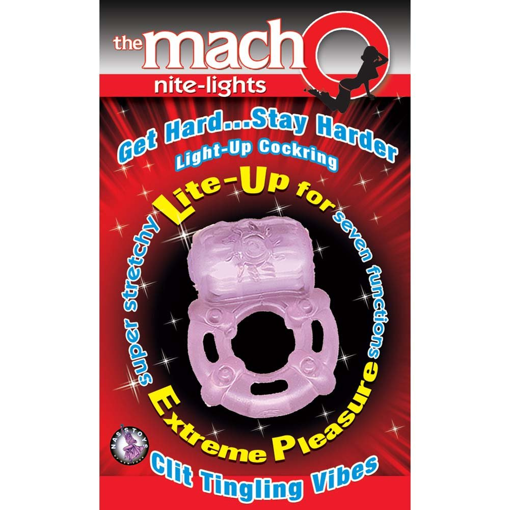 Macho Nite-Lights Vibrating Cockring Purple - View #1