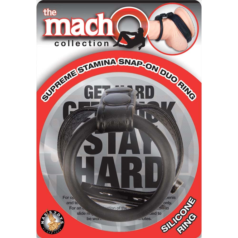 Macho Supreme Stamina Snap-On Duo Ring Black - View #1