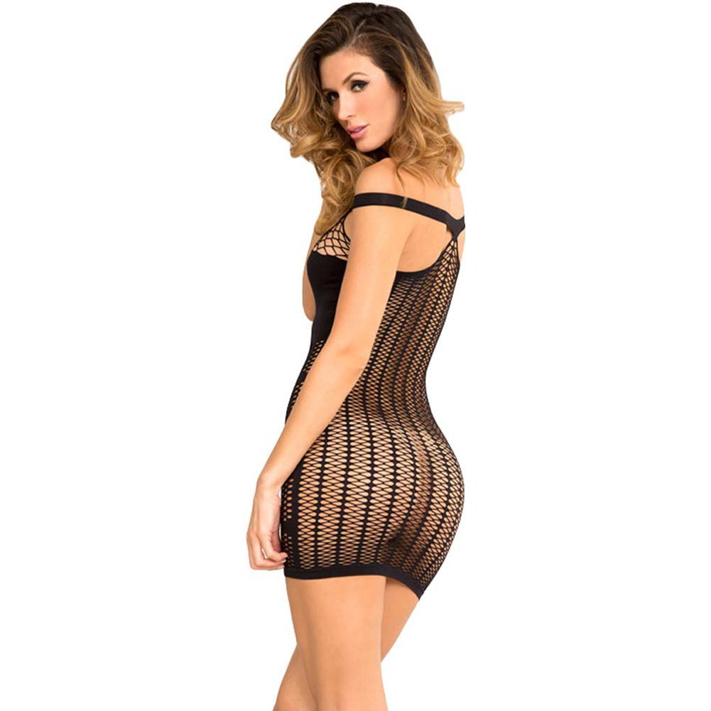 Big Spender Multi-Net Seamless Dress Small-Medium Black - View #2