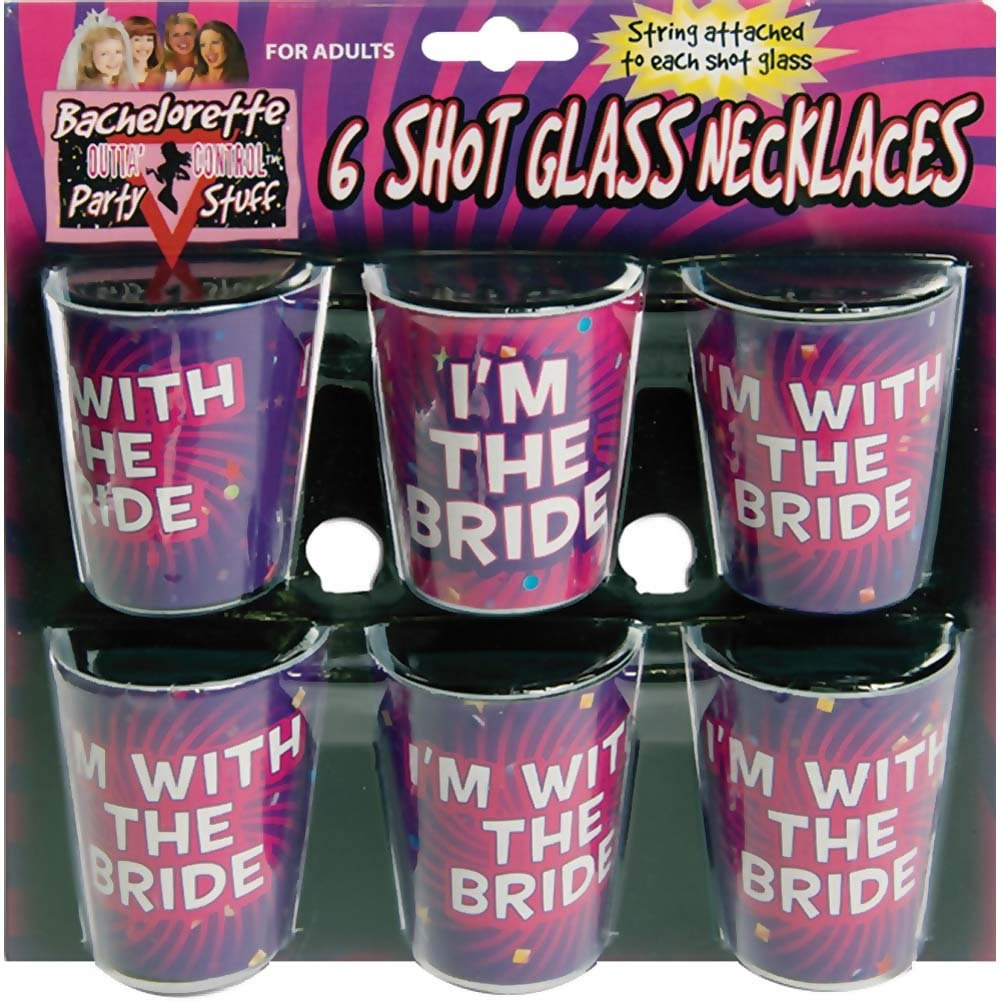 Bachelorette Shot Glass Necklace 6/Set - View #1
