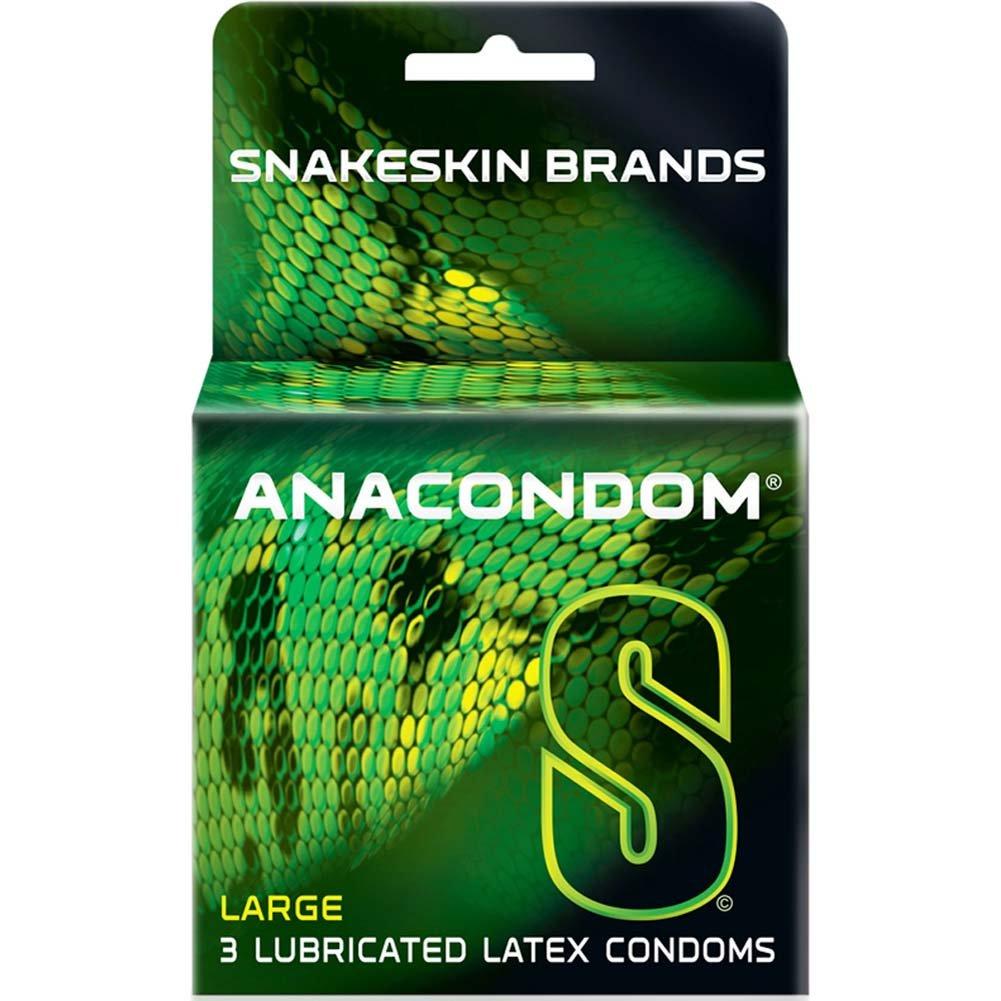 Snakeskin Anacondom Lubricated Latex Condoms 3 Pack - View #1