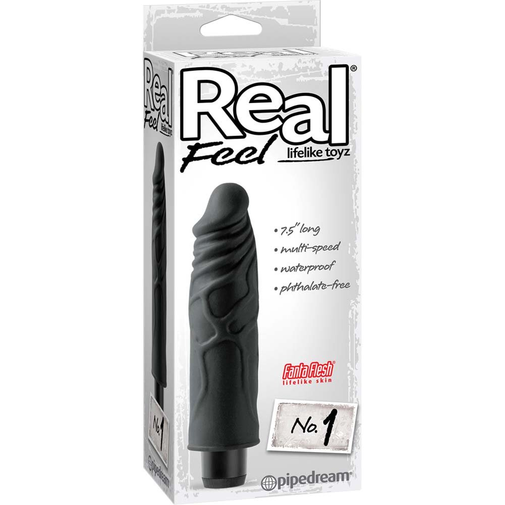 Real Feel Lifelike Toyz No. 1 Vibrator Black - View #1