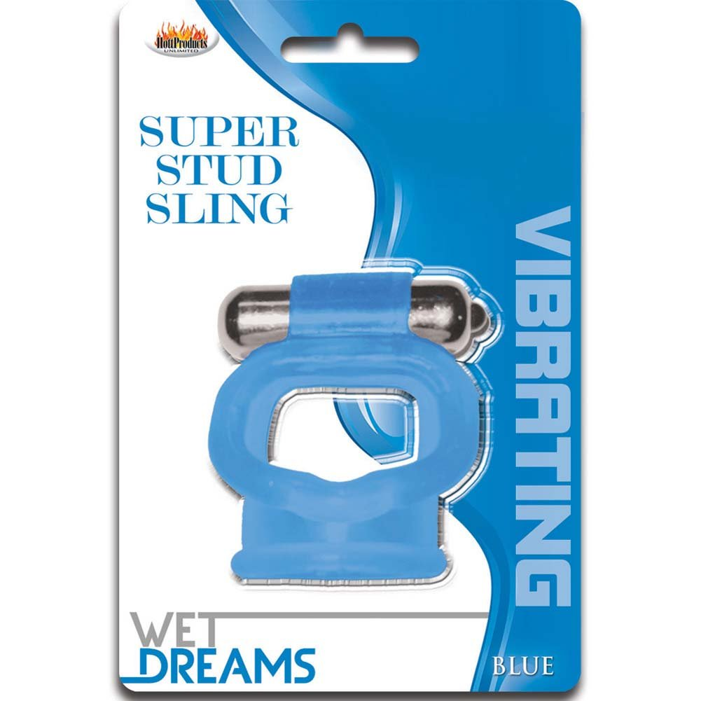 Wet Dreams Vibrating Super Stud Sling Blue - View #1