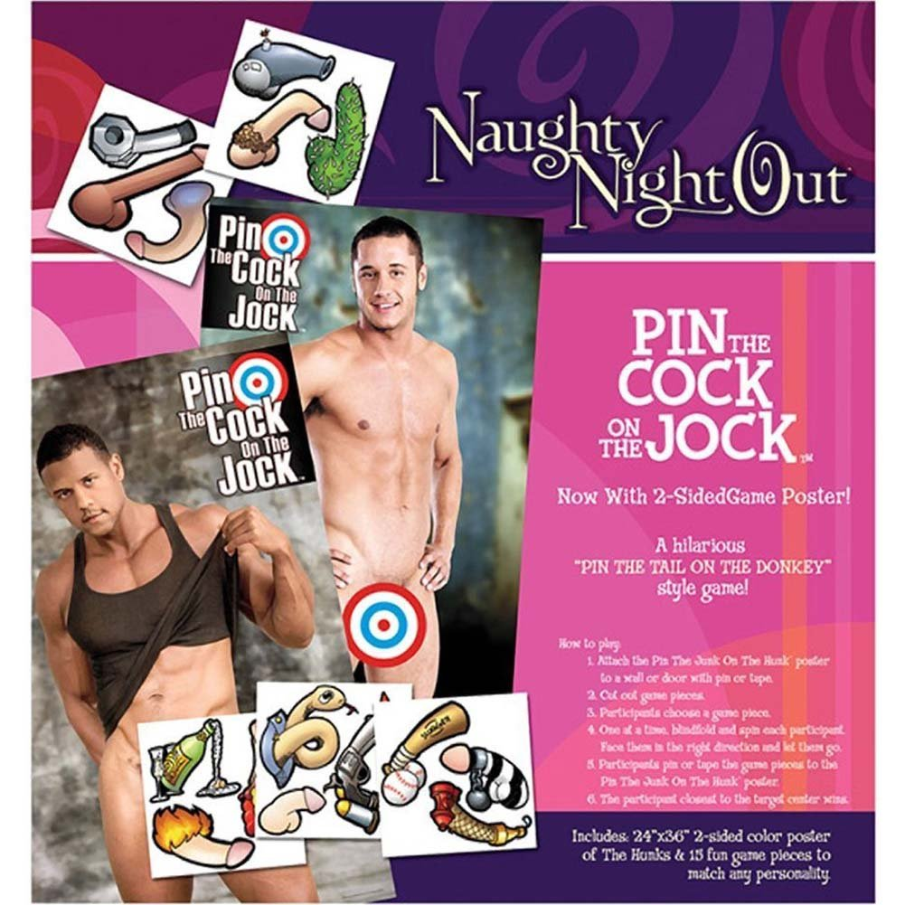 Sportsheets Naughty Night Out Pin the Cock On the Jock - View #1