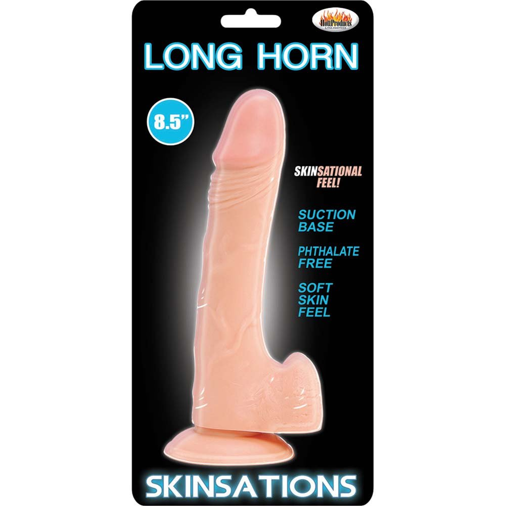 "Skinsations Long Horn Dildo 8.5"" Natural Flesh - View #1"