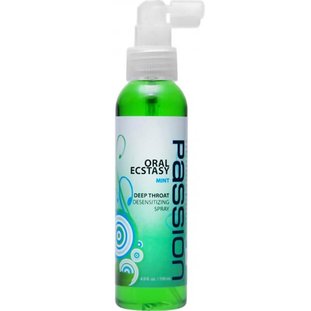 Passion Oral Ecstasy Deep Throat Desensitizing Spray 4 Fl.Oz Mint - View #1