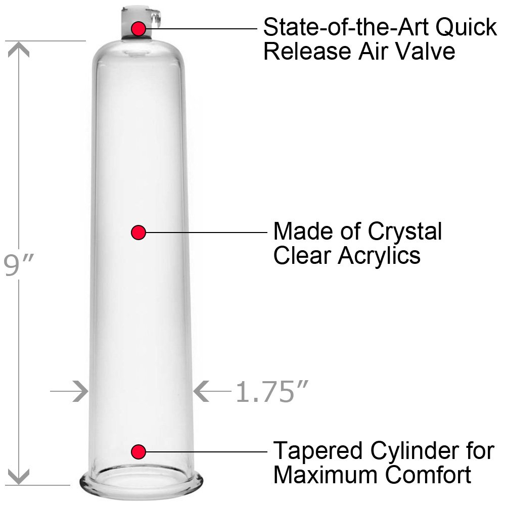 "Size Matters Penis Pumping Cylinder 1.75"" Diameter Clear - View #1"