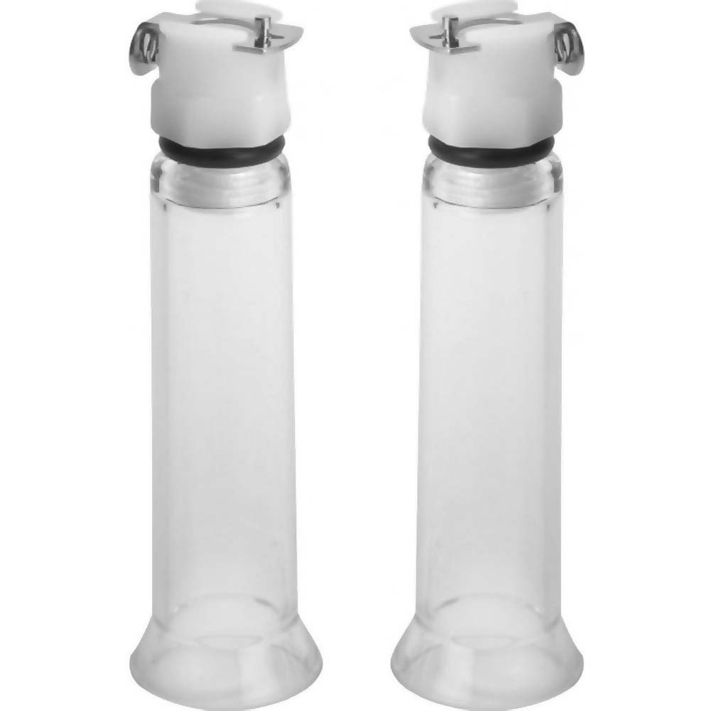 Size Matters 2 Nipple Cylinders Medium Clear - View #2