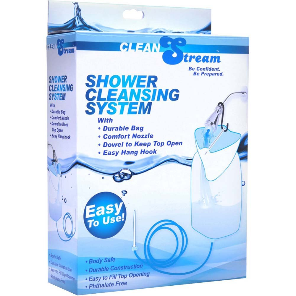 CleanStream Silicone Shower Cleansing System Blue - View #1