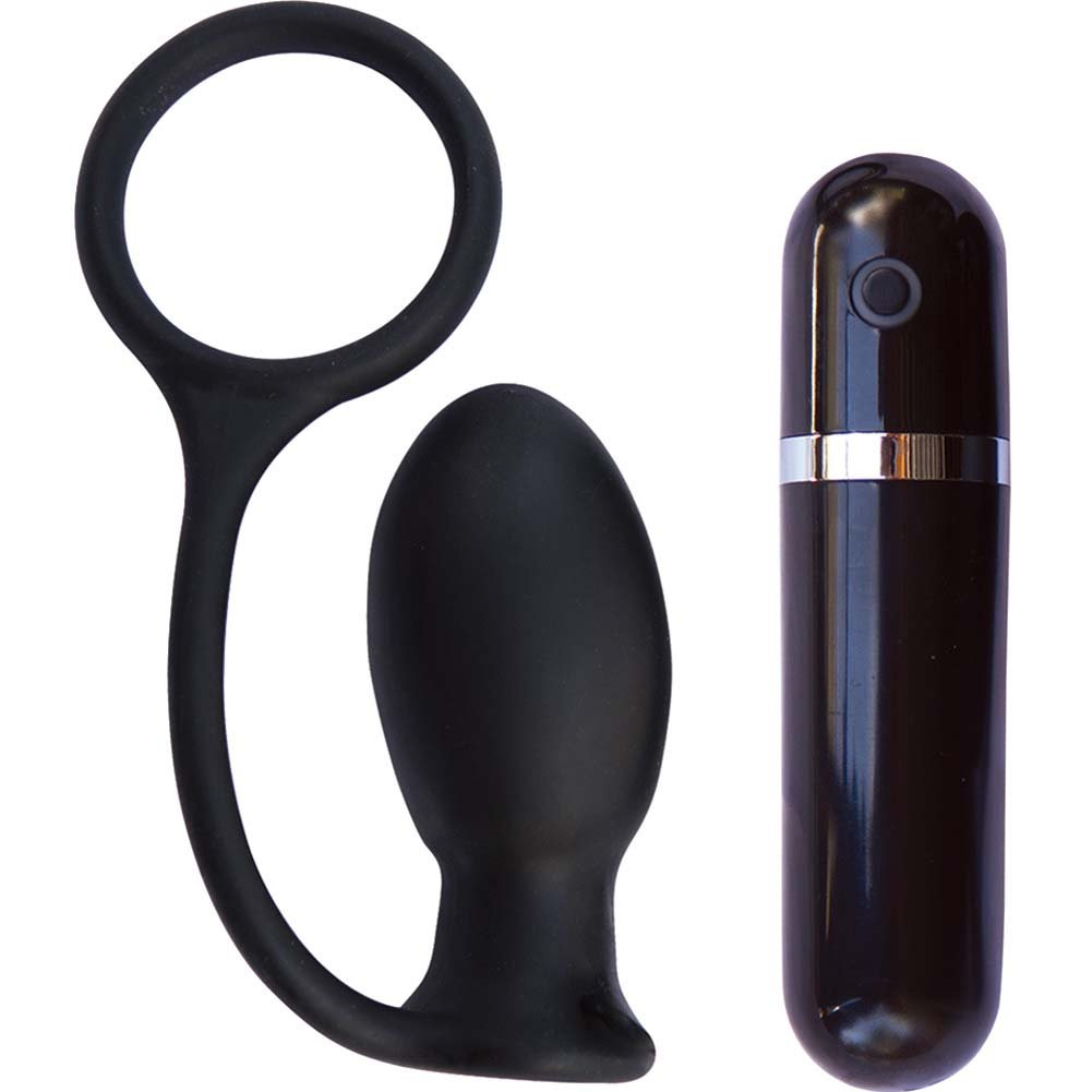 "Mack Tuff Vibrating Butt Thriller Anal Plug 3.5"" Black - View #2"
