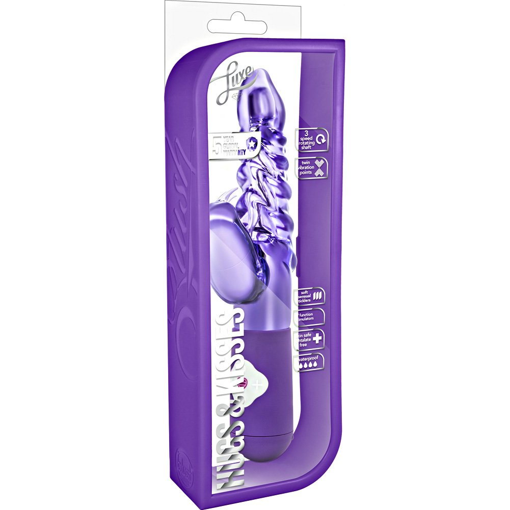 "Blush Luxe Hugs and Kisses Vibrator 10.25"" Purple - View #1"
