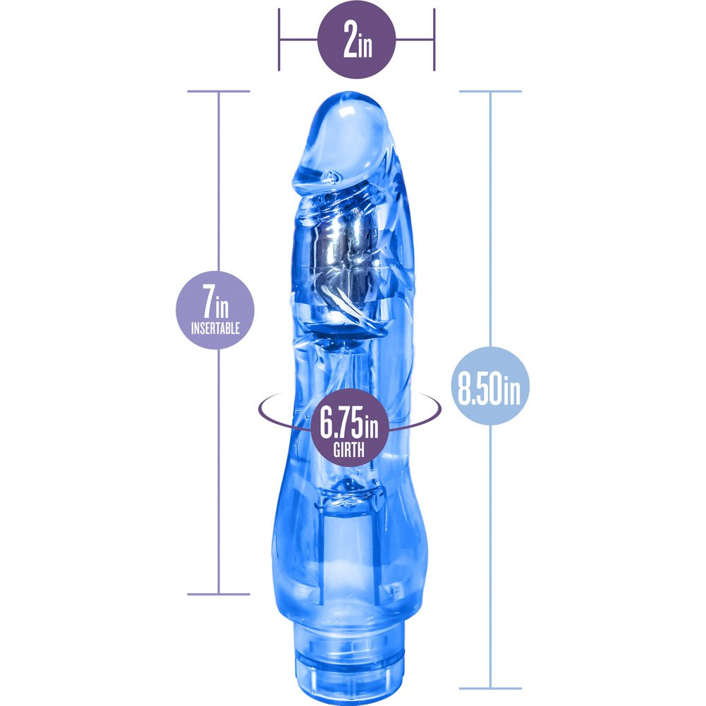 "Blush Naturally Yours Fantasy Vibrator 8.5"" Blue - View #1"