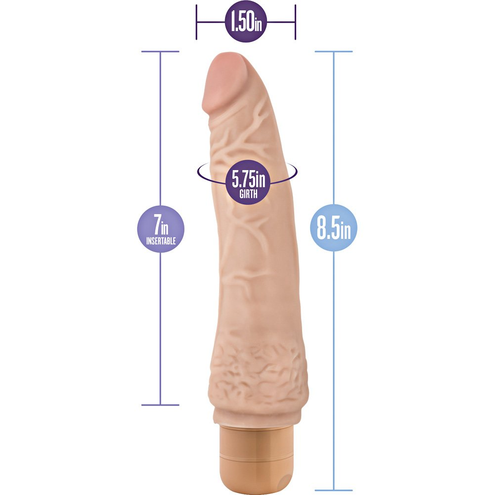 "Blush Novelties Dr. Skin No. 7 Cock Vibrator 8.5"" Natural Flesh - View #1"