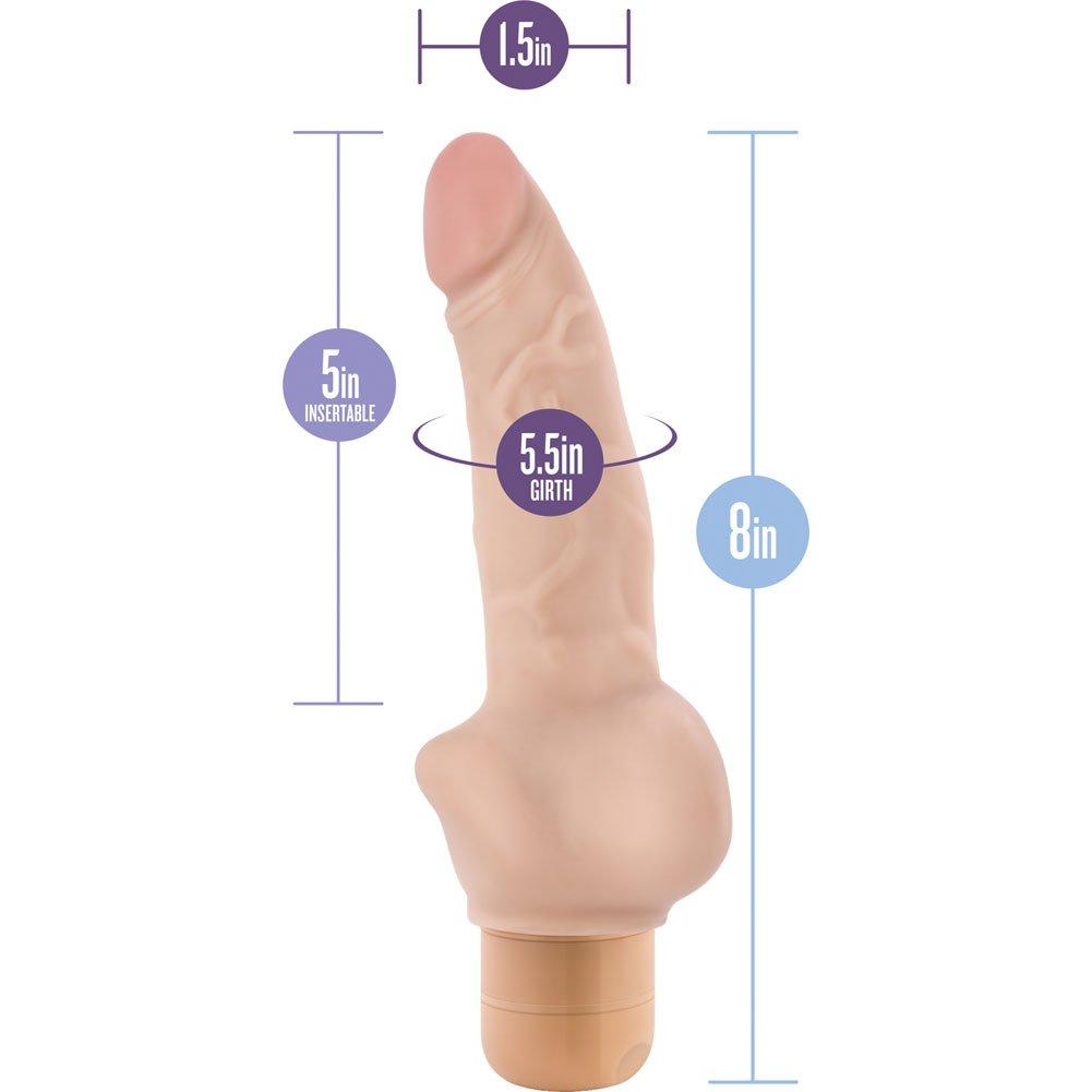 "Blush Novelties Dr. Skin No. 12 Cock Vibrator 8"" Natural Flesh - View #1"