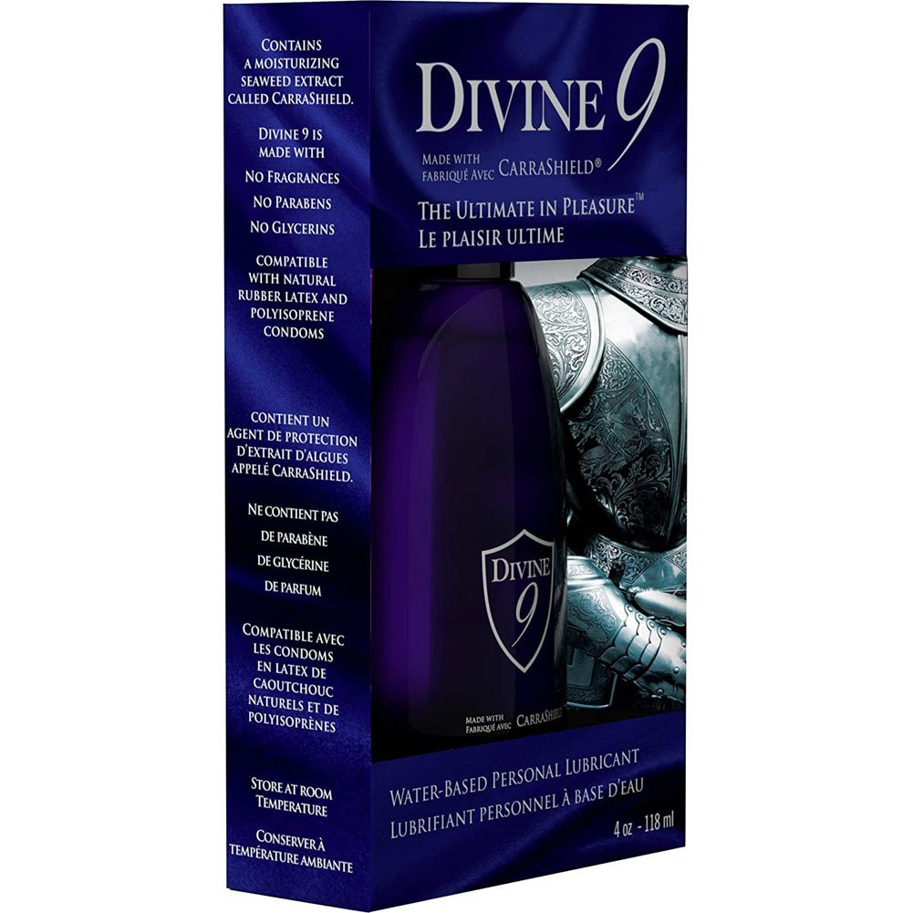 Divine 9 Waterbased Personal Lubricant with Carragel HPV Inhibitor 4 Fl.Oz. - View #1