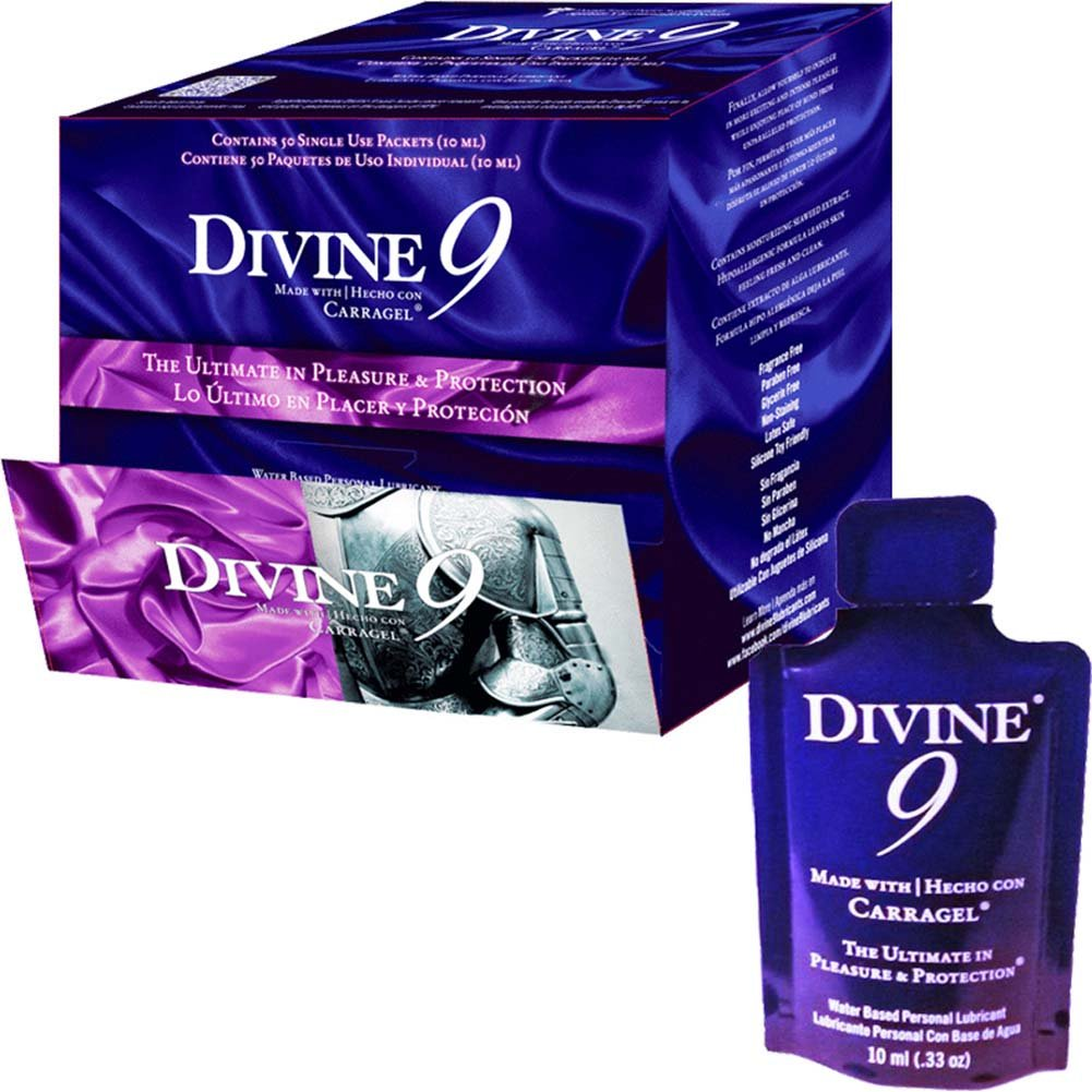 Divine 9 Lubricant with Carragel HPV Inhibitor Display 50ct 10 Ml Pillows - View #1
