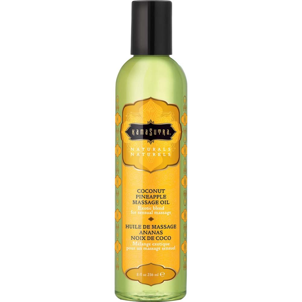 Naturals Sensual Massage Oil by Kama Sutra 8 Fl.Oz 236 mL Coconut Pineapple - View #1