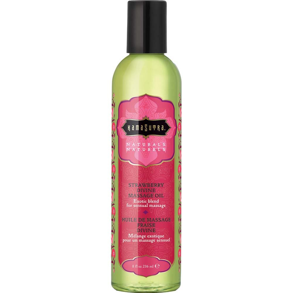 Kama Sutra Aromatic Massage Oil 8 Fl.Oz 236 mL Strawberry Divine - View #1