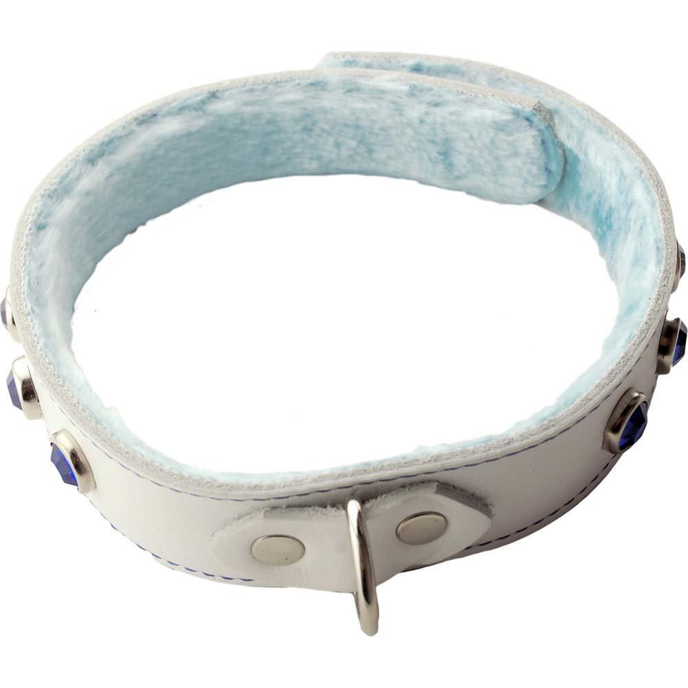 Spartacus Divinity Leather Single Strap Collar White - View #1