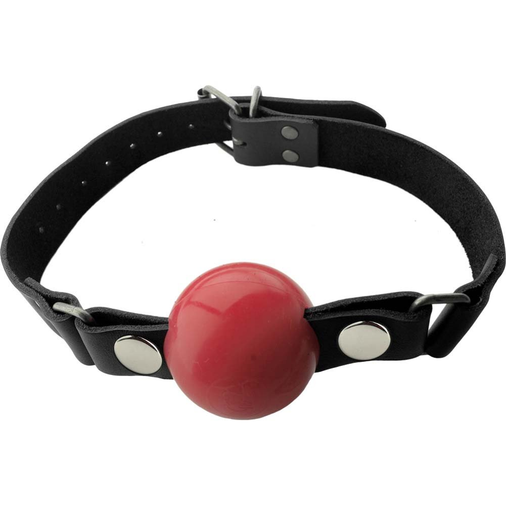 "Spartacus Nickel Free Silicone Removable Ball Gag Large 2"" Red - View #2"