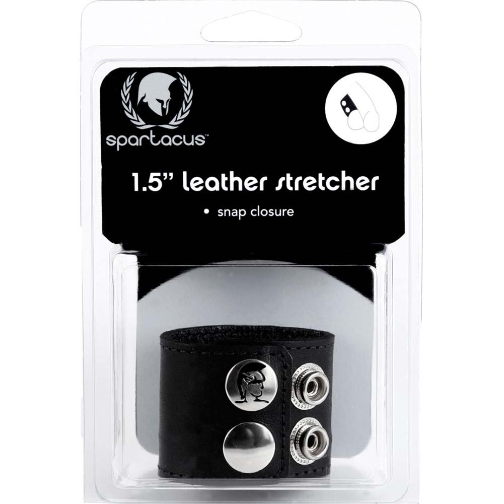 "Spartacus Leather Ball Stretcher with Snaps 1.5"" Black - View #3"