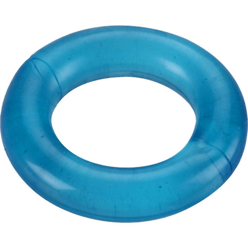 Spartacus Relaxed Fit Elastomer Cock Ring Blue - View #2