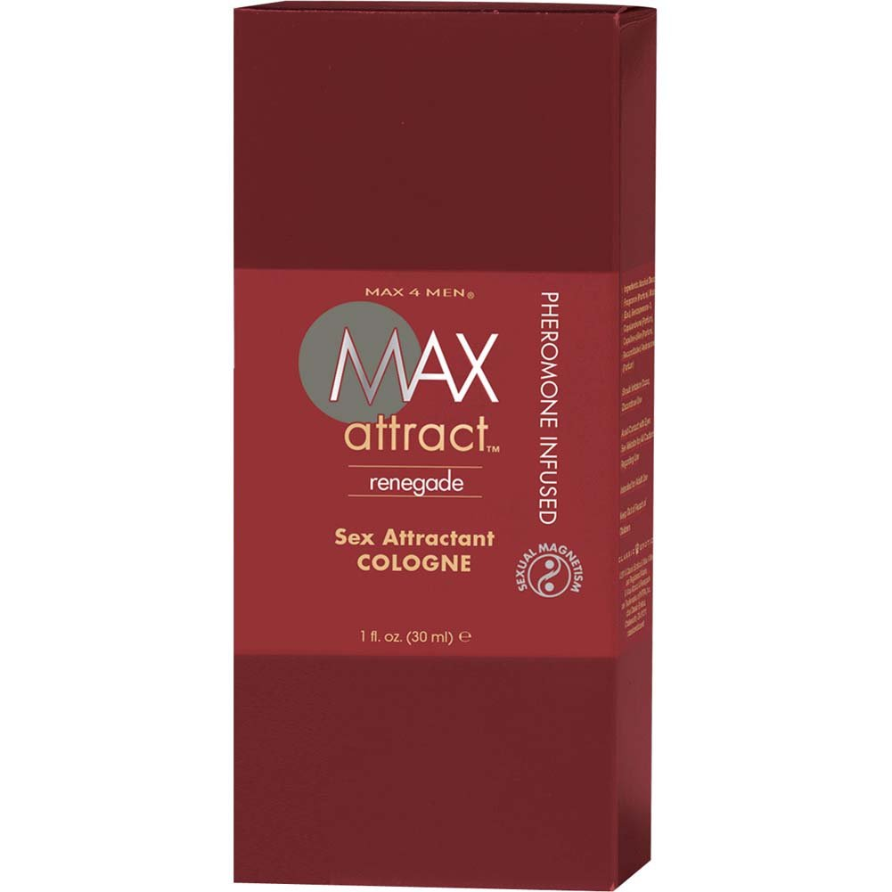 Max 4 Men Max Attract Renegade Cologne with Pheromones 1 Fl.Oz. Boxed - View #1