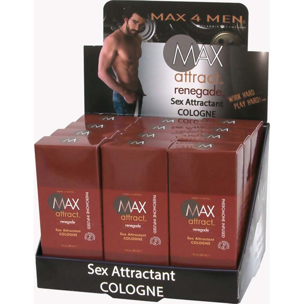 Max 4 Men Max Attract Renegade Cologne with Pheromones 1 Fl.Oz. 12 Pk Display - View #2